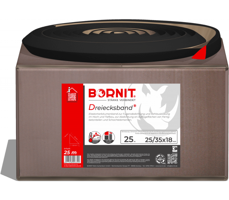 BORNIT Dreiecksband - Elastomerbitumenband - 25 lfm