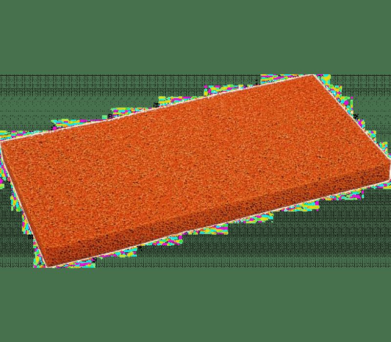 10mm schwarzer Ersatzbelag für Reibebrett 14 x 28 cm
