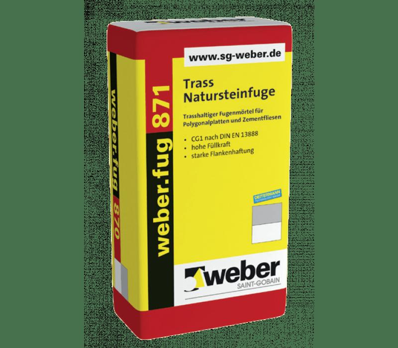 weber.fug 871, 25kg - Trass-Natursteinfuge