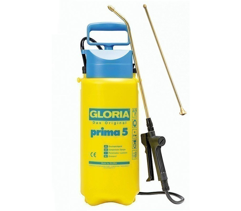 Gloria Drucksprühgerät prima 5, 5ltr incl. Messingverlängerung 50cm