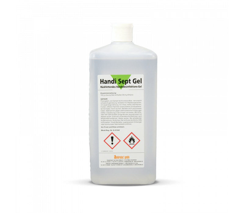 ambratec Handi Sept Gel | Rückfettendes Händedesinfektions-Gel - 150ml