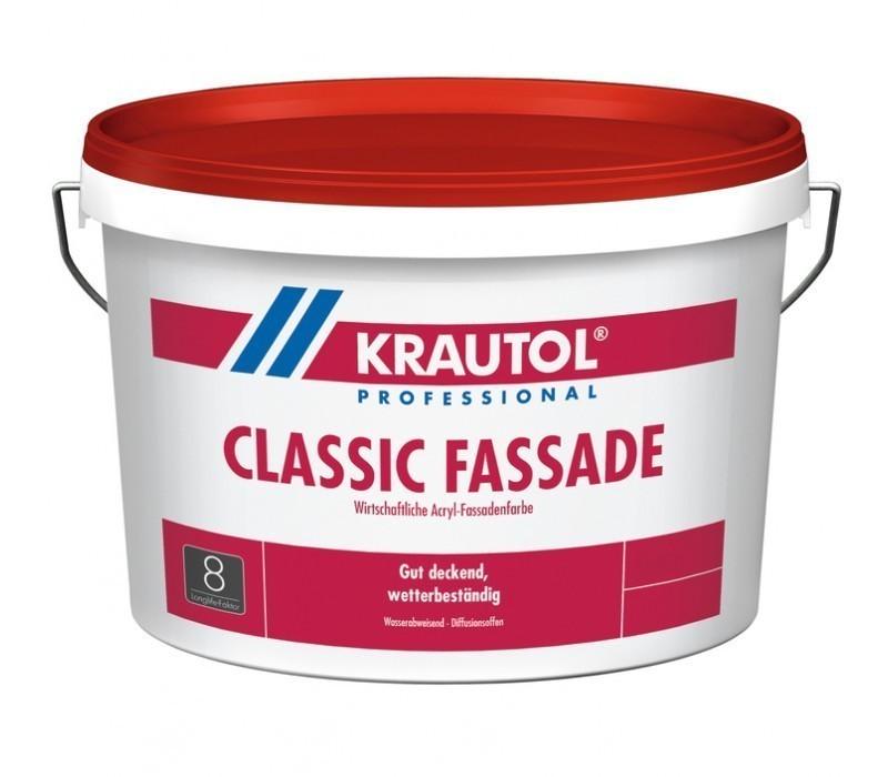 KRAUTOL CLASSIC FASSADE   Acryl-Fassadenfarbe - weiß