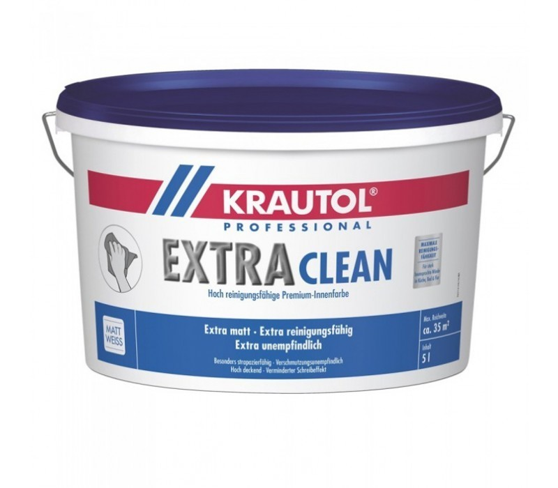 KRAUTOL EXTRA CLEAN | Premium-Innenfarbe - weiß - 5ltr
