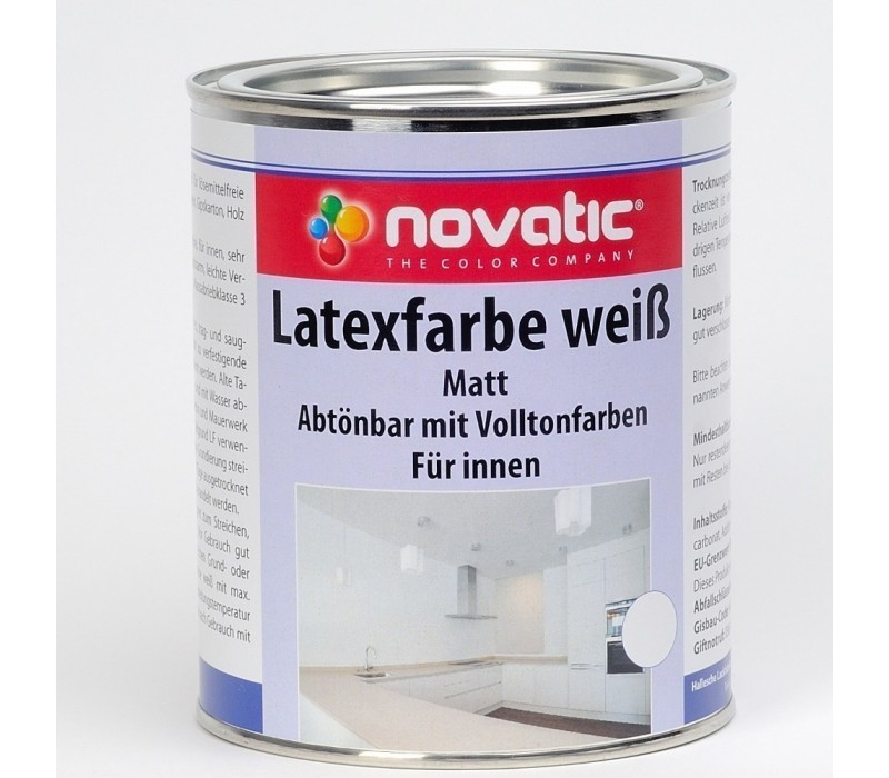 novatic Latexfarbe AW01 - weiß