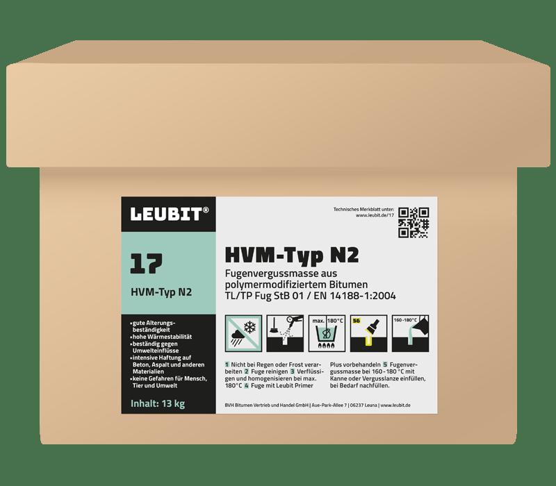 LEUBIT® Fugenvergussmasse HVM-Typ N2 - 13 kg