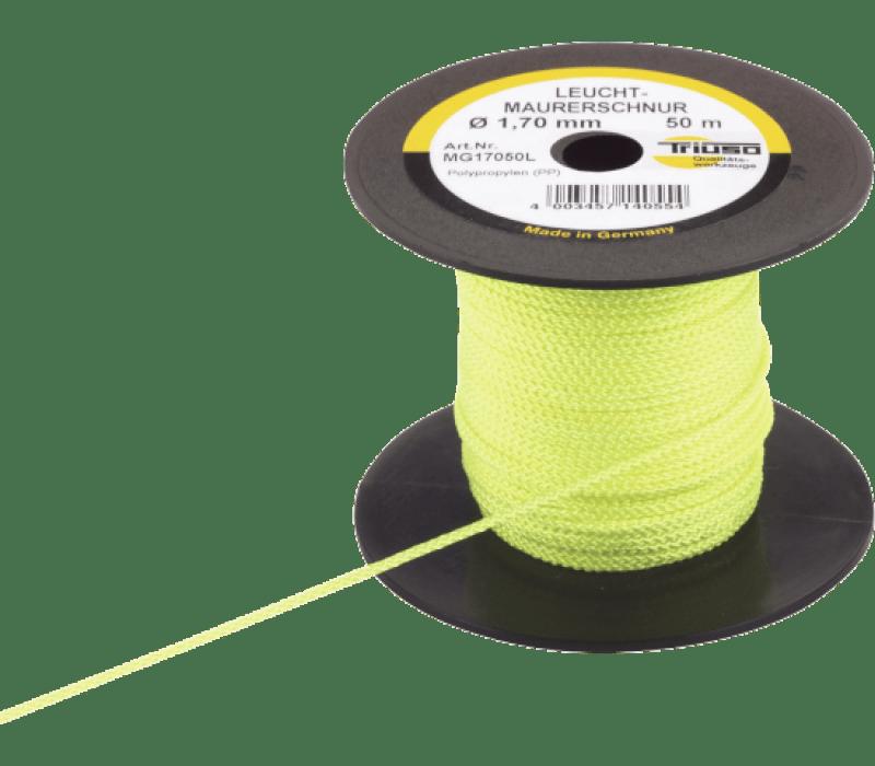 Leucht-Maurerschnur gelb-fluoreszierend, 1,7mm x 50m