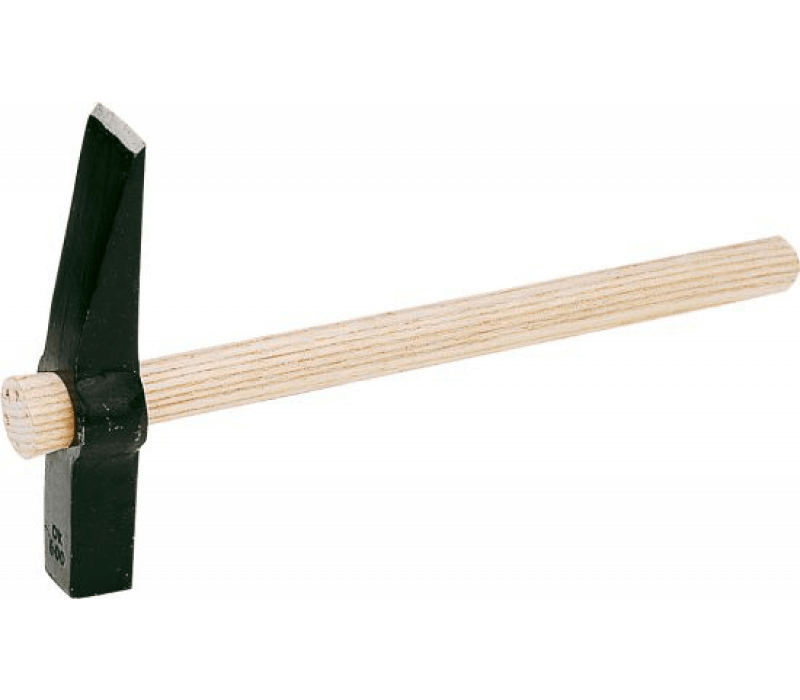 Maurerhammer 'Rheinische Form' - 600g, mit Holzstiel