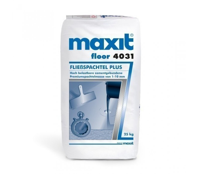maxit floor 4031 Fließspachtel Plus (weber.floor 4031) - Zement-Bodenspachtelmasse, 25kg