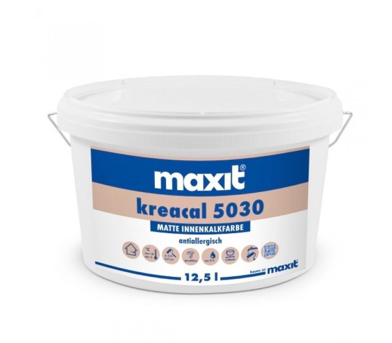maxit kreacal 5030 - Innenkalkfarbe, weiß - 12,5ltr