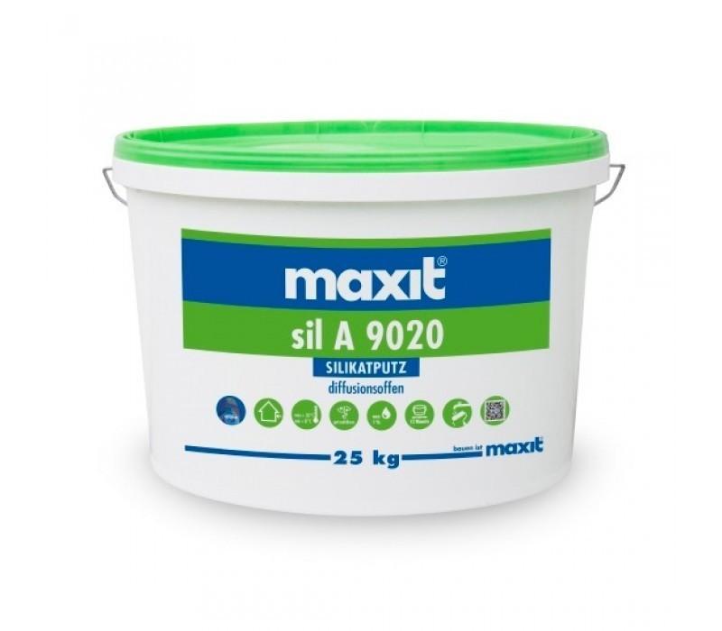 maxit sil A 9020 R - Silikat-Rillenputz, außen, weiß - 25kg