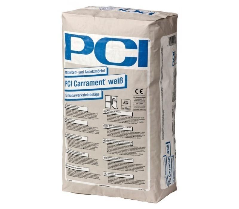 PCI Carrament - Mittelbett- u. Ansetzmörtel, weiß - 25kg