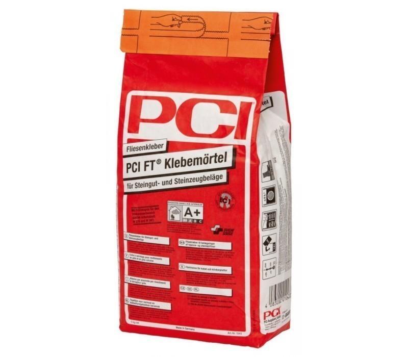 PCI FT Klebemörtel - Fliesenkleber, grau - 5kg