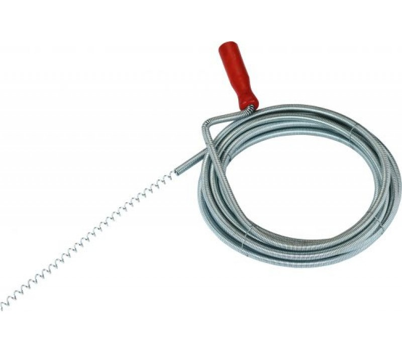 Rohrreinigungswelle mit Kurbel und Spiralhaken