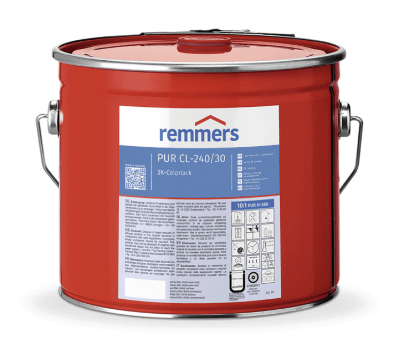 Remmers PUR CL-240/30-Colorlack, halbmatt