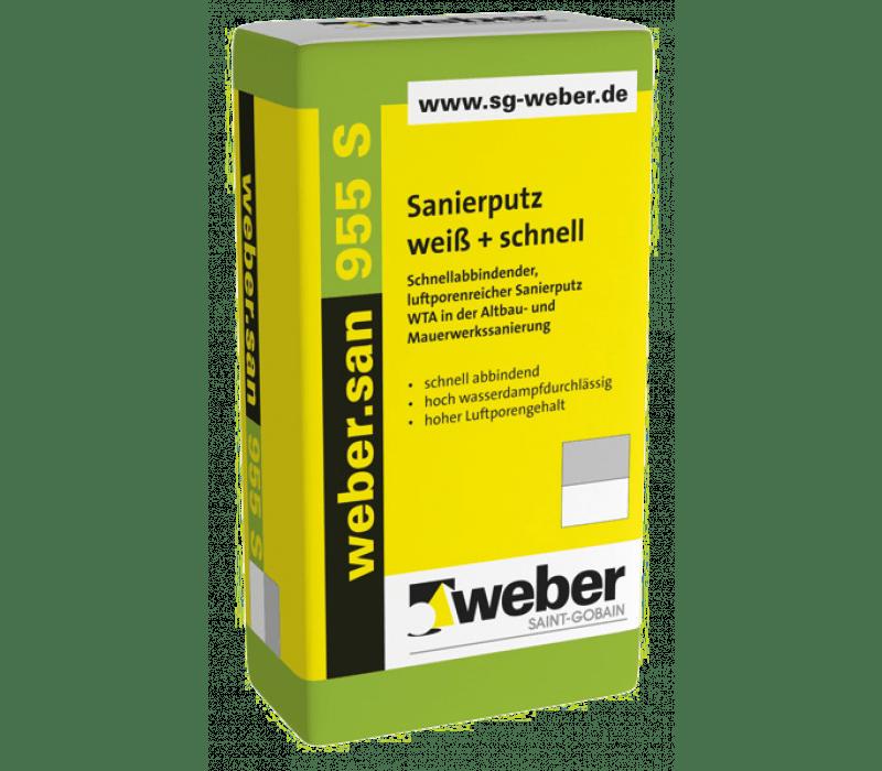 weber.san 955 S, 25kg - Sanierputz weiß + schnell