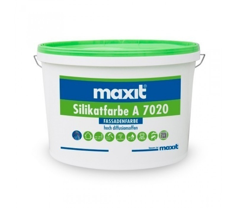 maxit Silikatfarbe A 7020, weiß - Fassadenfarbe