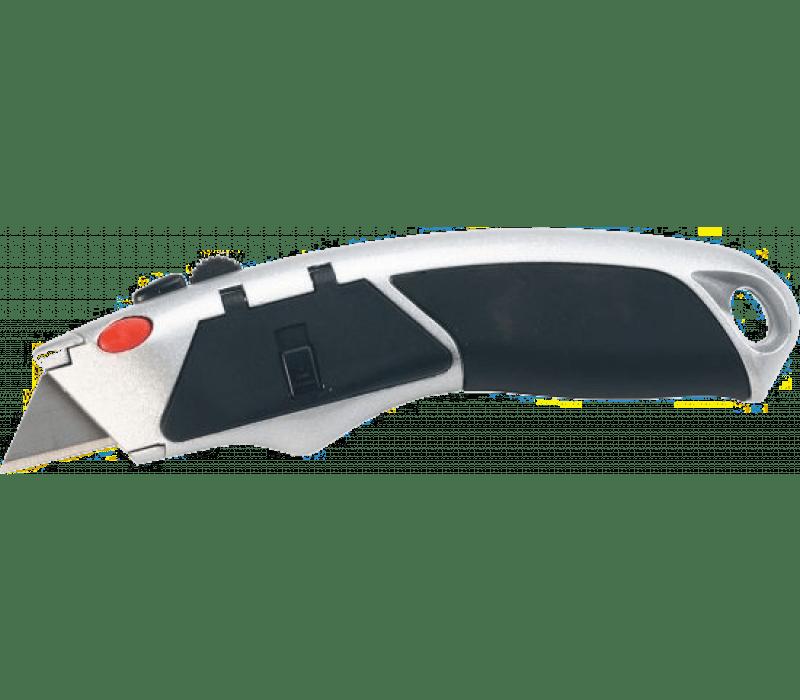 Cuttermesser mit Softgriff, incl. 8 Trapezklingen