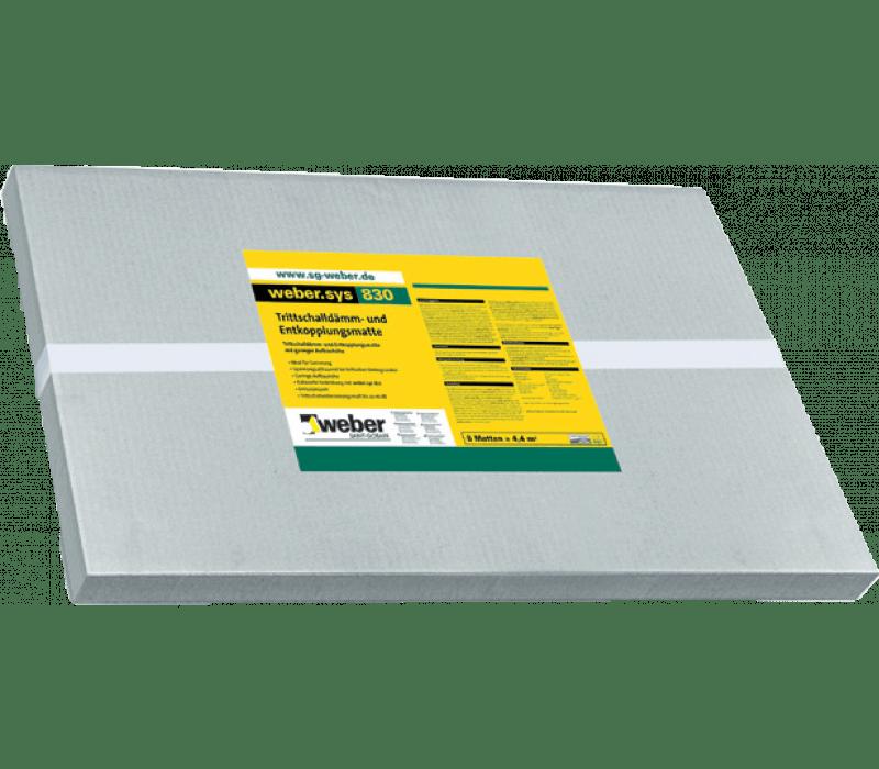 weber.sys 830 - Trittschalldämm- u. Entkopplungsmatte 4mm, 4,4m² (8 St.)