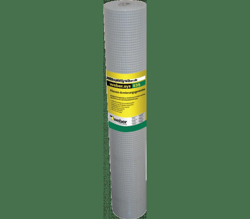 weber.sys 835 - Fliesen-Armierungsgewebe 1m x 25m - MW 7mm