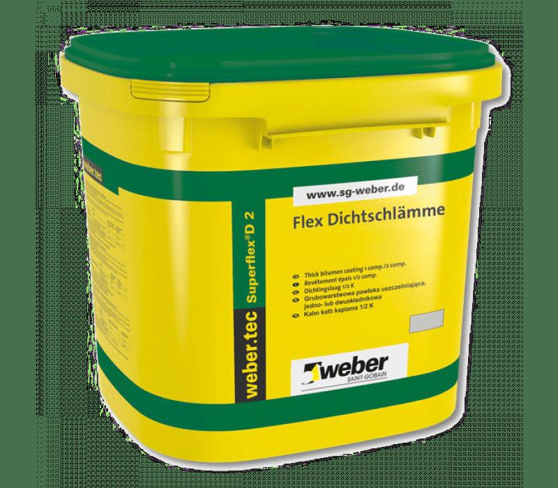 weber.tec Superflex D 2 - Flex Dichtschlämme, 2-K