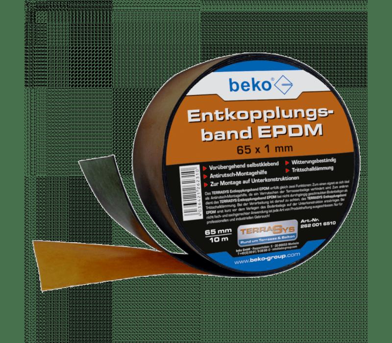 beko TERRASYS Entkopplungsband EPDM - 65mm x 1mm, 10m/Rolle