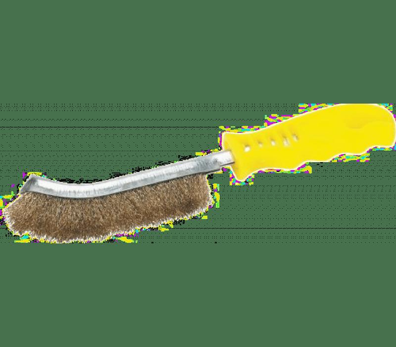 Universal-Handdrahtbürste - Messing, gelber Griff