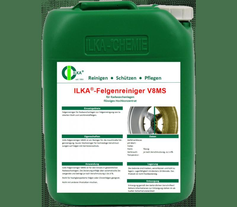 ILKA - V8MS Felgenreiniger, sauer | für maschinellen Einsatz