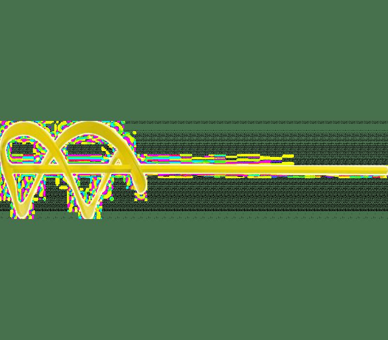 Wendelrührer WK gelb, Sechskant, d=85mm