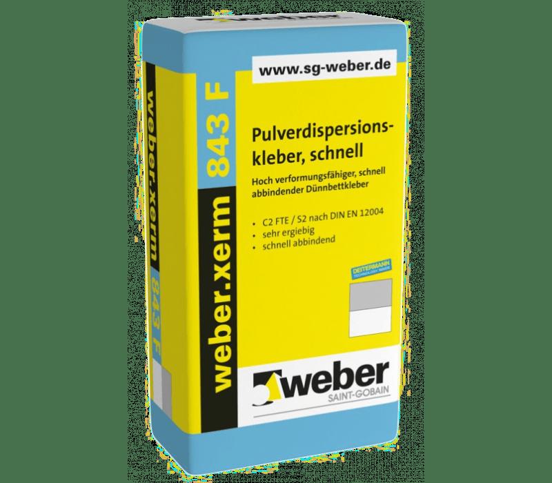 weber.xerm 843 F, 18kg - Pulverdispersionskleber, schnell
