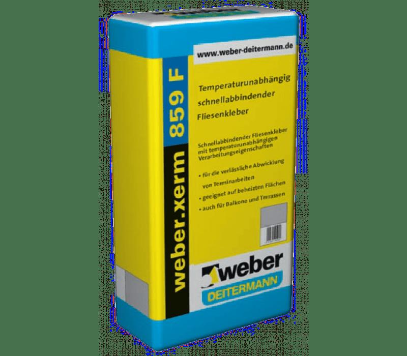 weber.xerm 859 F, 25kg - Temperaturunabhängig abbindender Fliesenkleber