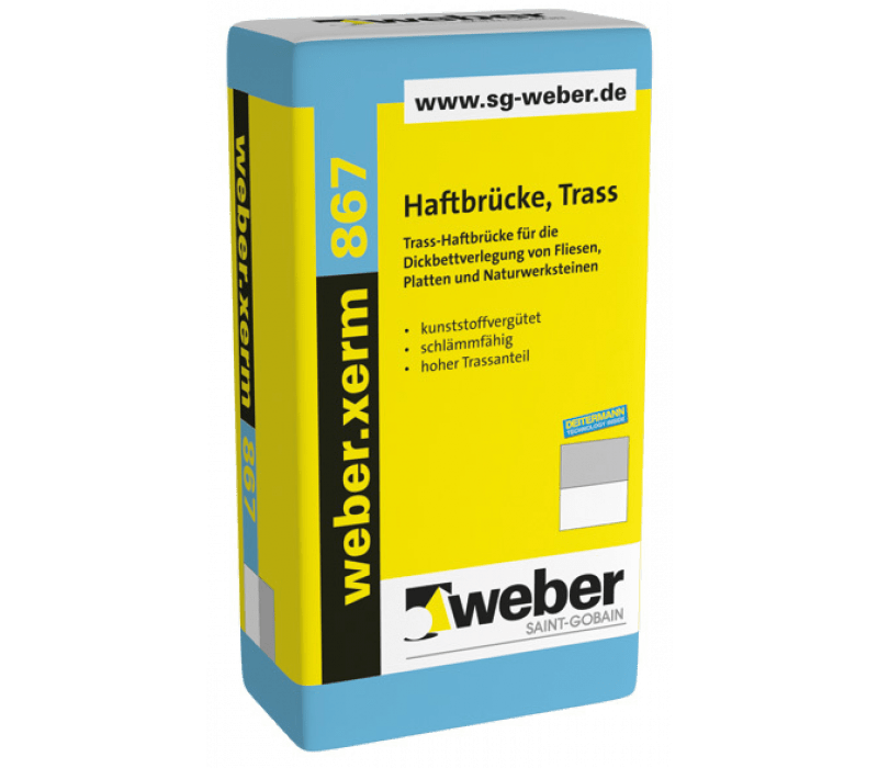 weber.xerm 867, 25kg - Haftbrücke, Trass