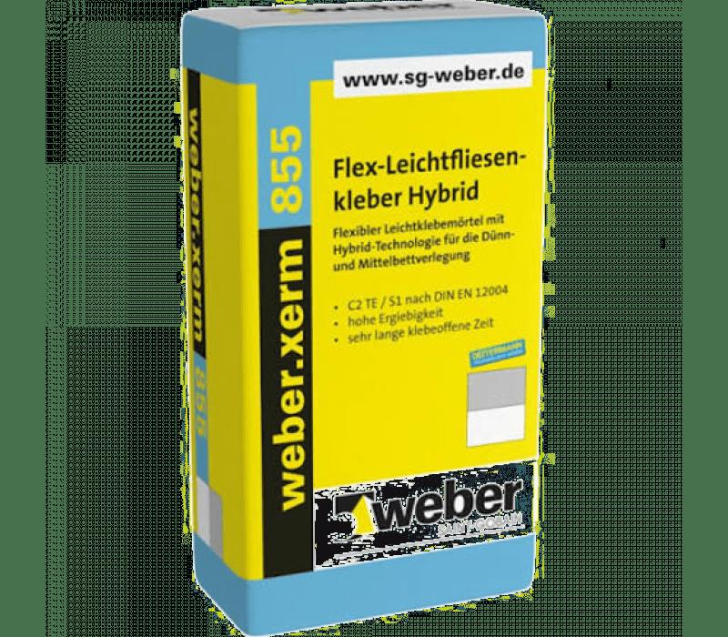 weber.xerm 855, 20kg - Flex-Leichtfliesenkleber Hybrid