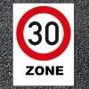 BORNIT Verkehrszeichen VZ 274.1 Tempo-30-Zone