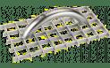 Gitter-Rabott 'Schleifwunder' - Edelstahl - 150x290mm