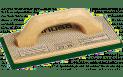 Mehrschichtholz-Reibebrett m. grünem Belag 8mm, 140x280mm