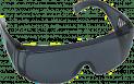 Schutzbrille, blau getönt, EN166 - Überbrille