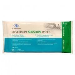 DESCOSEPT Sensitive Wipes | Desinfektionstücher - 10Stück
