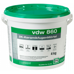vdw 860 2K-KeramikfugenMörtel - 4 kg - dunkelgrau