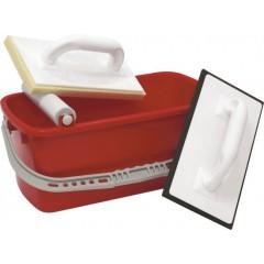 Fliesenleger-Wasch-Set, 3-teilig, 10Liter