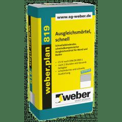 weber.plan 819, 25kg - Ausgleichsmörtel, schnell