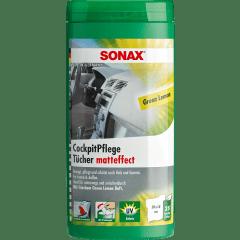 SONAX CockpitPflegeTücher Matteffect Green Lemon - 150Stk. (6x25)