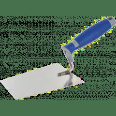 Kantige Kelle 'Stukkateurkelle', Edelstahl, 2K-Griff - 180mm