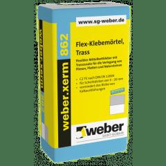 weber.xerm 862, 25kg - Flex-Klebemörtel, Trass
