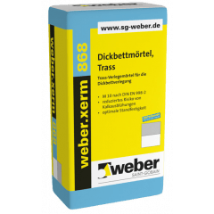 weber.xerm 868, 25kg - Dickbettmörtel, Trass