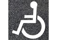 BORNIT Piktogramm Behinderte (RMS), weiß