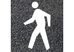 BORNIT Piktogramm Fußgänger (VZ133) (RMS), weiß