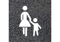 BORNIT Piktogramm Fußgänger (VZ239) (RMS), weiß