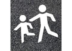 BORNIT Piktogramm Kinder (VZ136) (RMS), weiß, 525x1000mm, 5Stück