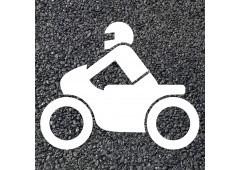BORNIT Piktogramm Motorradfahrer (RMS), weiß, 1000x700mm, 5Stück