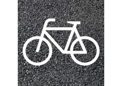 BORNIT Piktogramm Radfahrer (RMS), weiß